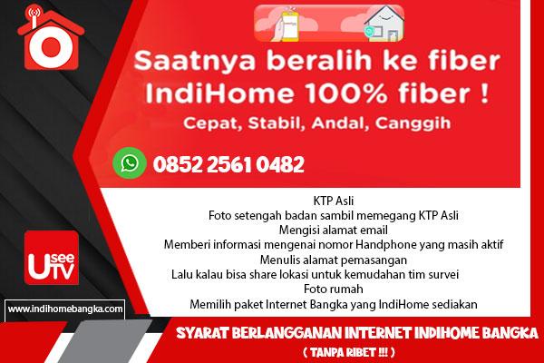 Syarat Berlangganan Internet IndiHome Bangka